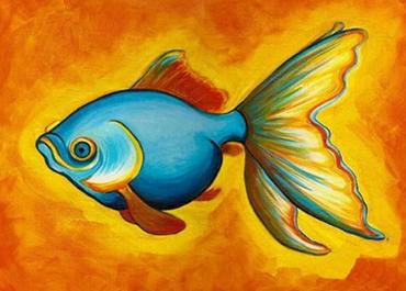 Золотая рыбка к сказке из стихотворения Бальмонта