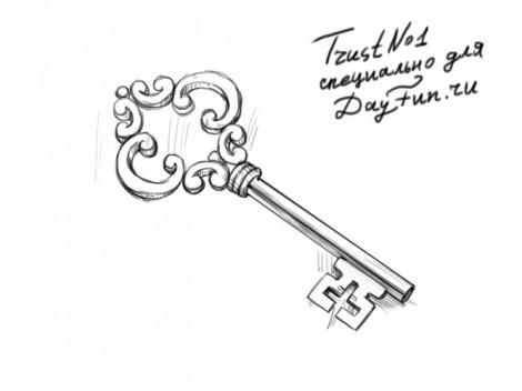 Ключ из буратино раскраска