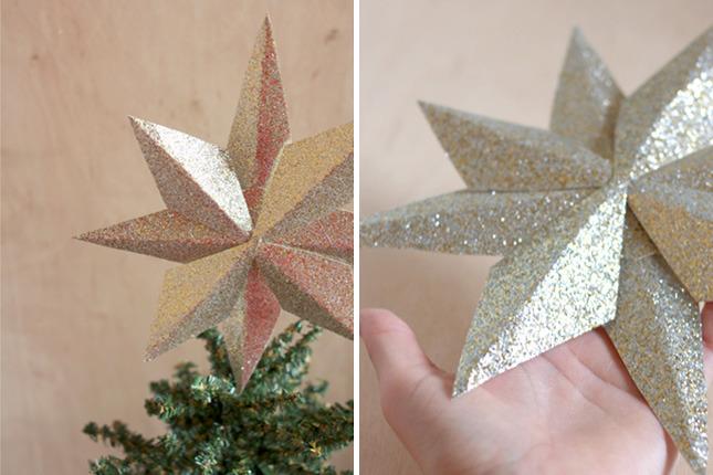 Как сделать звездочку на елку из бумаги своими руками - Ванильный Носорог