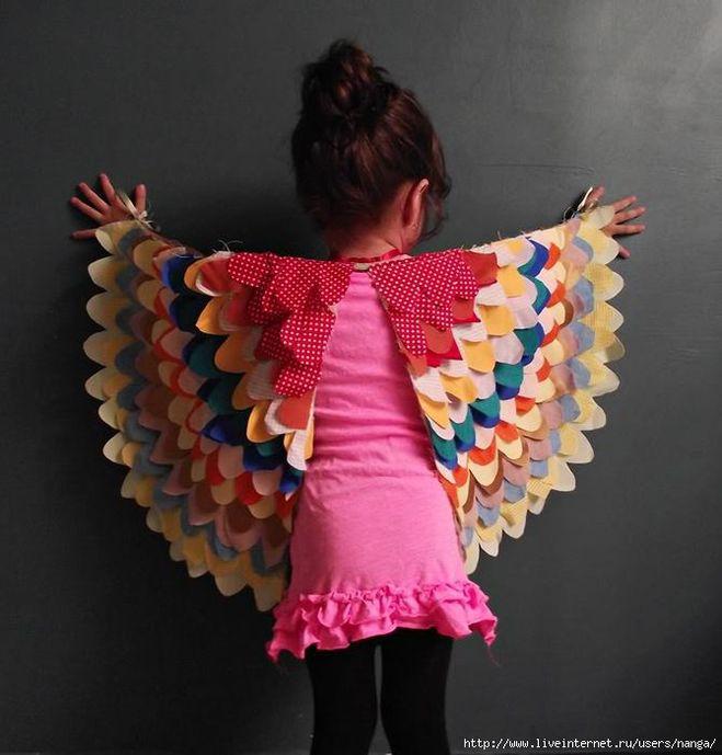 Крылья для птицы своими руками
