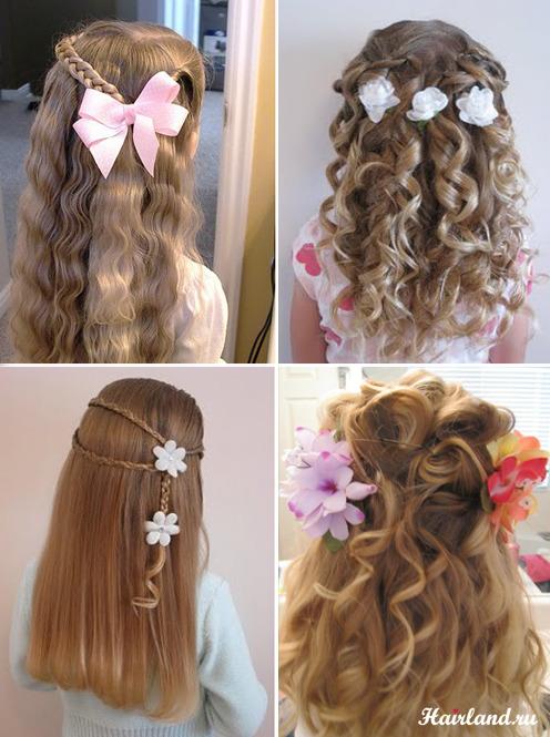 Прическа с цветами в волосах фото