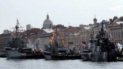 День ВМФ Петербург парад кораблей