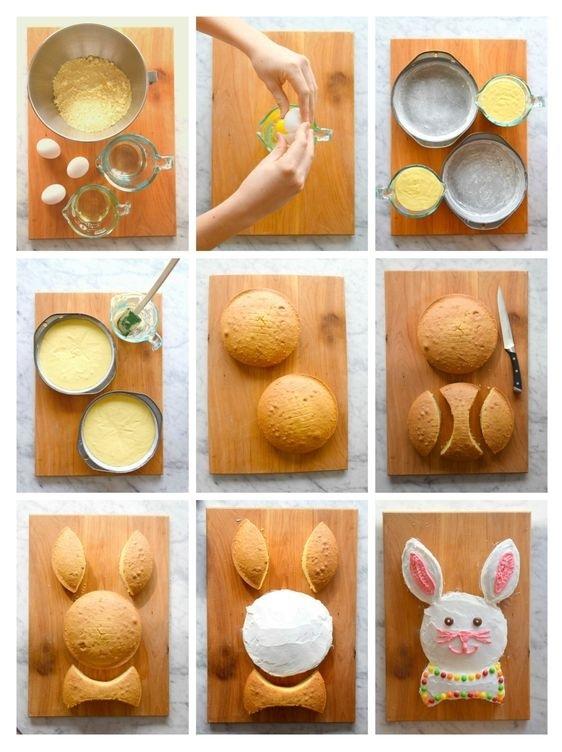 заяц для торта из коржей
