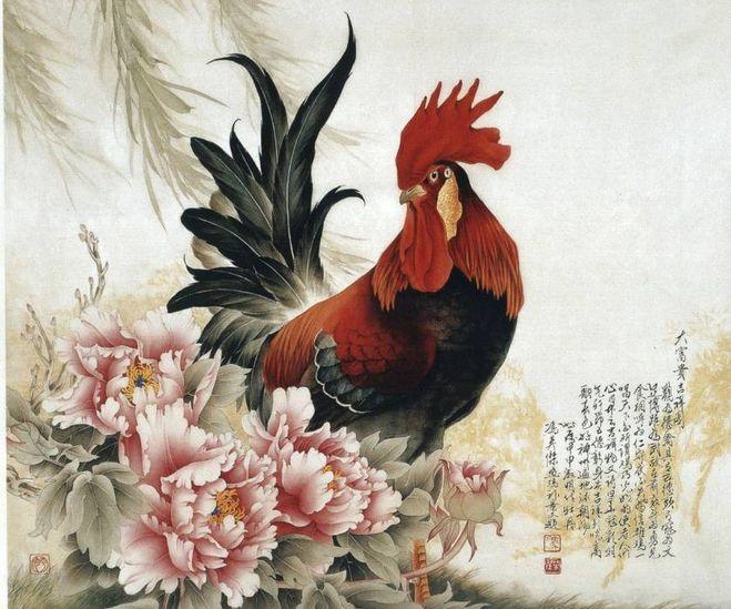 открытка петух