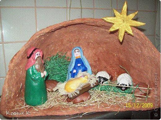 Поделка на рождество в детском саду