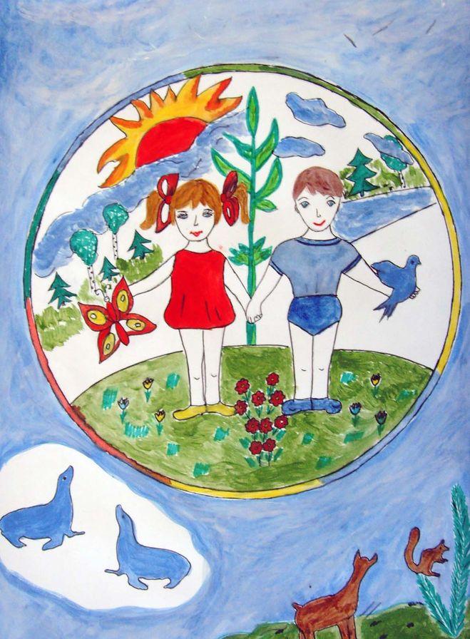 Рисунок на тему моя планета на конкурс