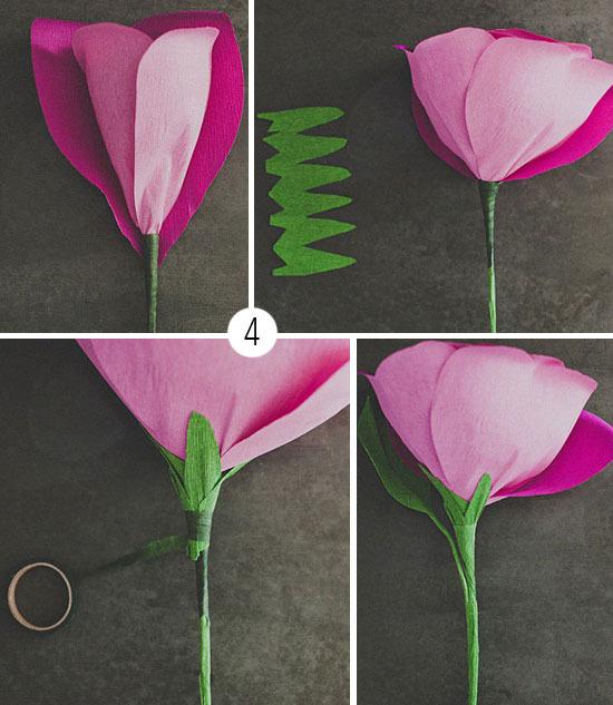 Объемные цветы из бумаги своими руками поэтапно