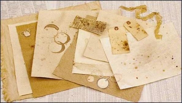 Как сделать лист бумаги старым с помощью кофе