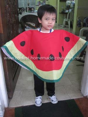 Костюм арбуза для мальчика из бумаги своими руками фото