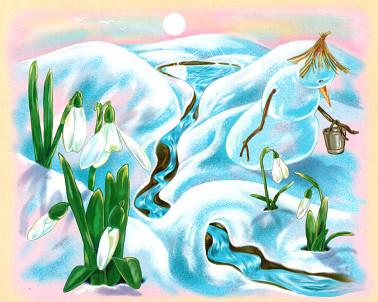 Картинки про весну нарисовать