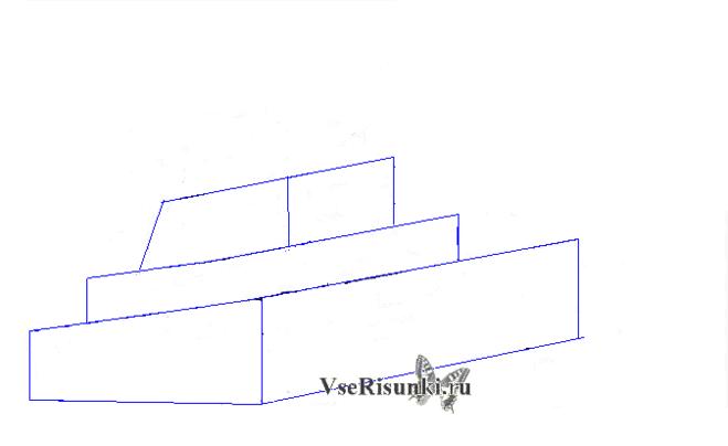 как рисовать танк поэтапно