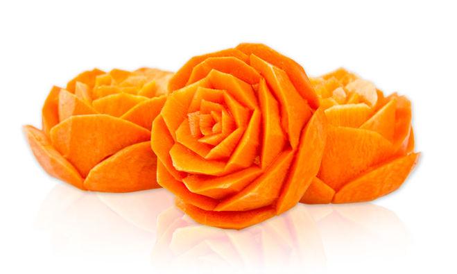Как сделать розы из свеклы и моркови видео