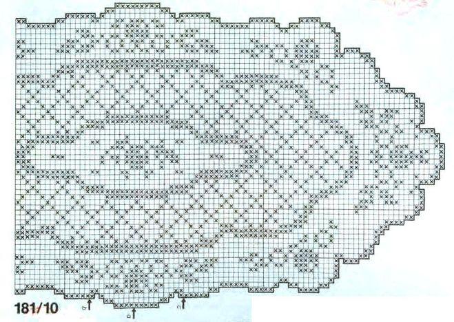 Овальные салфетки филейное схемы