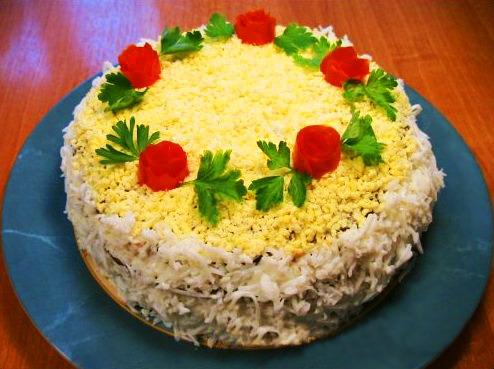 Вкусный печеночный торт рецепт с фото пошагово