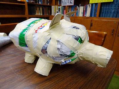 свинья в технике папье-маше своими руками