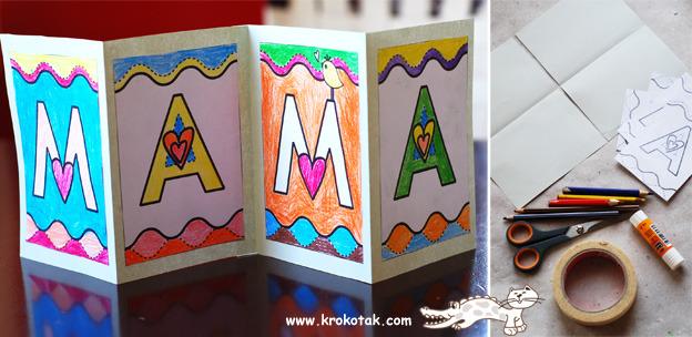 Как зделать для мам открытки