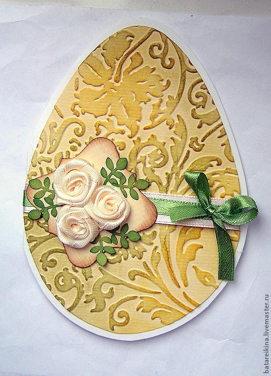Пасхальные открытки в виде яйца 99