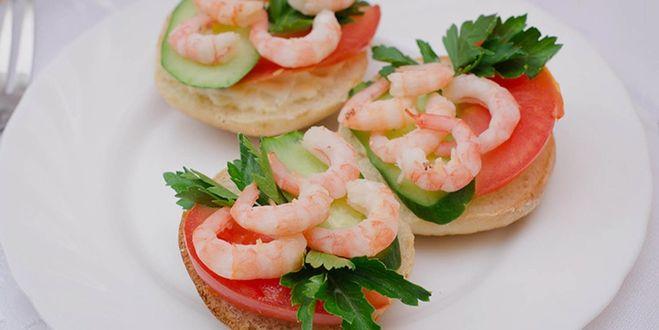 Бутерброды с креветками лучшие рецепты с фото
