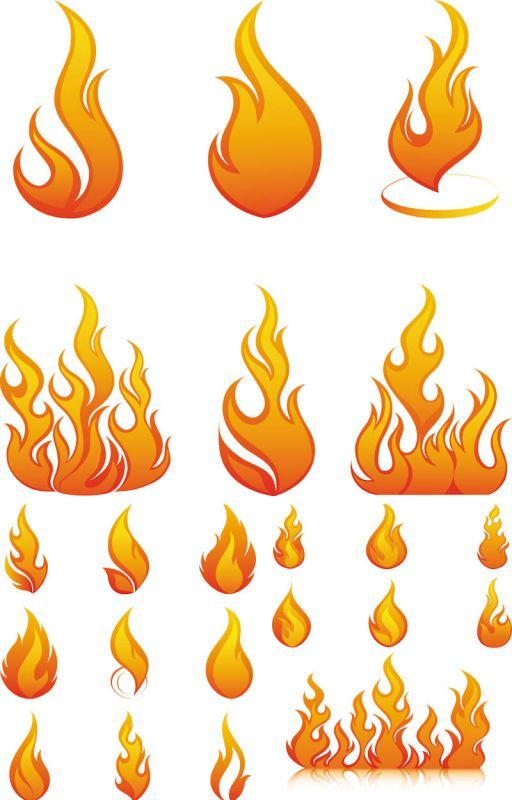 рисунки огня тату