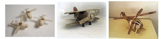 самолет из газетных трубочек