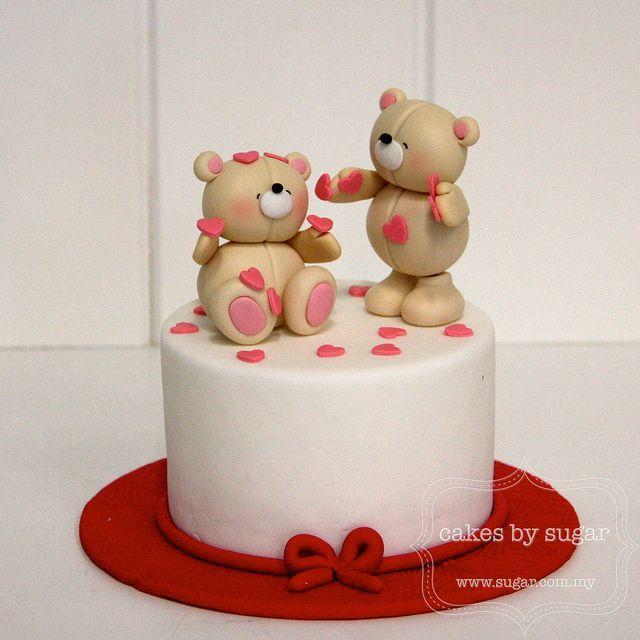 Торт с медведями из мастики