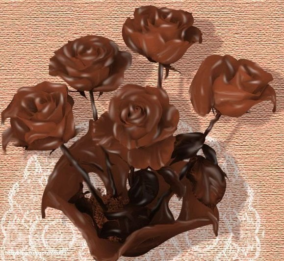 украшение из шоколада