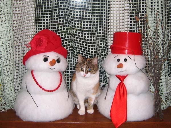 Быстро сделать снеговика