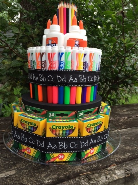 как сделать торт к 1 сентября, торт из кантоваров, подарок на 1 сертября, подарок на день знаний, на сайте (http://www.bolshoyv<wbr/>opros.ru).