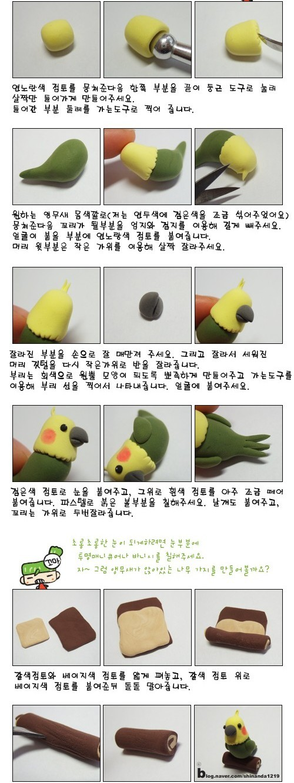 мастер-класс по лепке попугая из пластилина