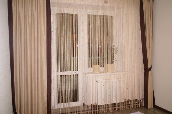 Как распутать нитяные шторы с бусинами