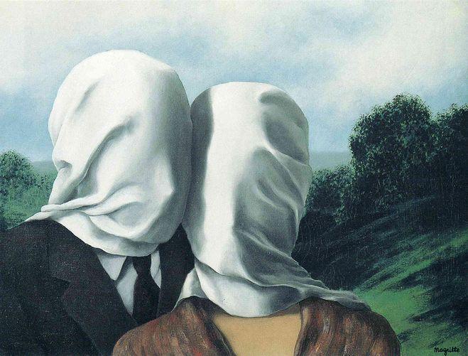 Рене Магритт «Влюблённые» (1928)