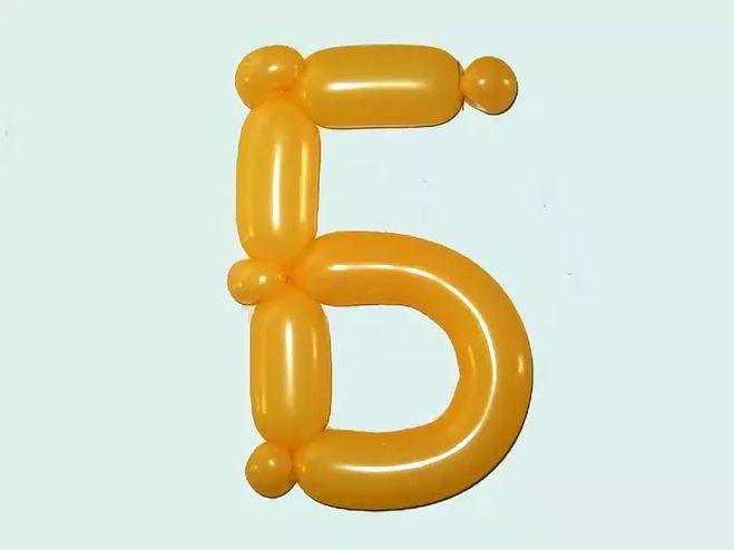 Как сделать букву Б из шаров своими руками
