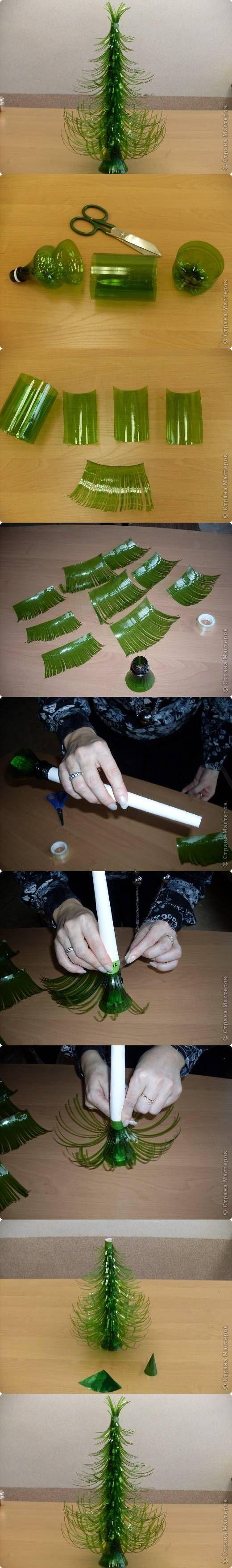 Как с пластиковых бутылок сделать новогоднюю игрушку