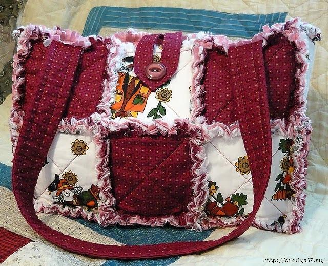 Сумки из лоскутков ткани своими руками
