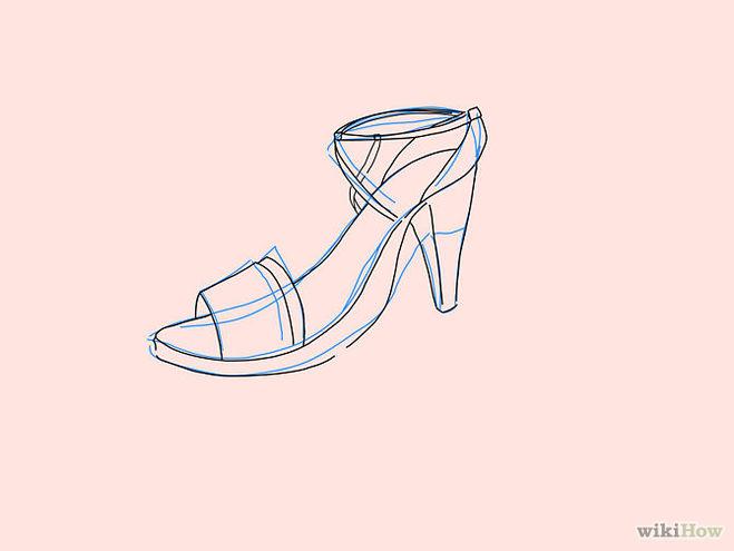 нарисовать туфли 5