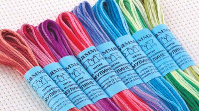 как называется пряжа нить в несколько цветов