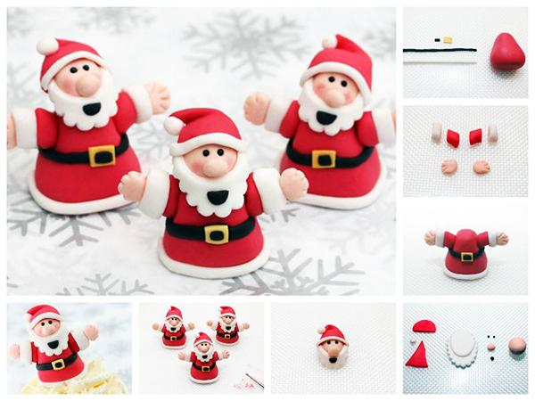 новогодняя поделка, поделка Дед Мороз из холодного фарфора, схемы лепки деда Мороза
