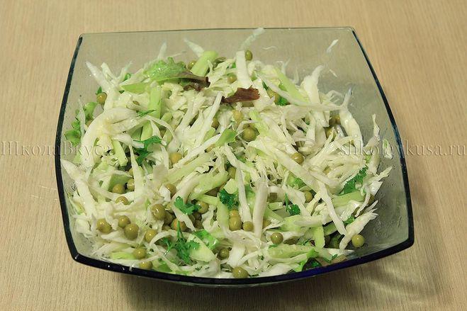 простые рецепты салаты с горошком консервированным рецепты