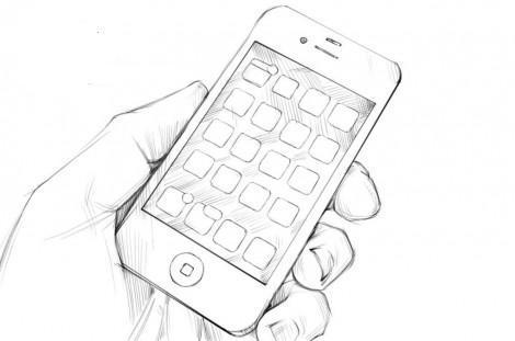 Рисунок айфон фото