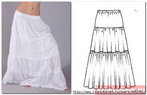 Сшить юбку ярусами выкройка
