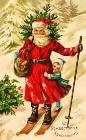новогодний рисунок, как нарисовать Санта Клауса