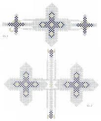 схема вышивки бисером православного крестика
