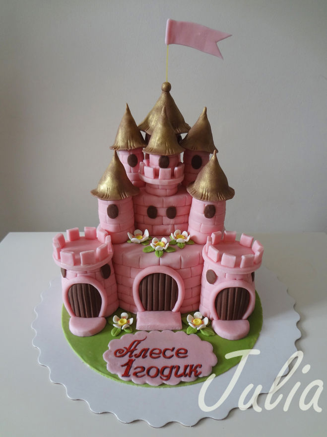 Торт замок мастика мастер класс