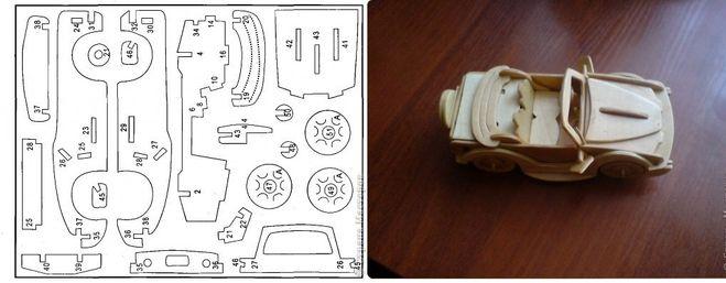 Как сделать деревянные машины инструкция