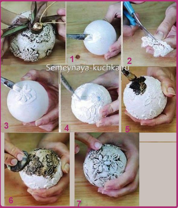Елочные шары своими руками мастер класс из бумаги