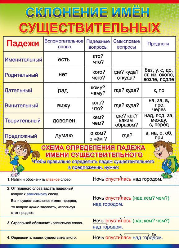 виды имен существительных в русском языке