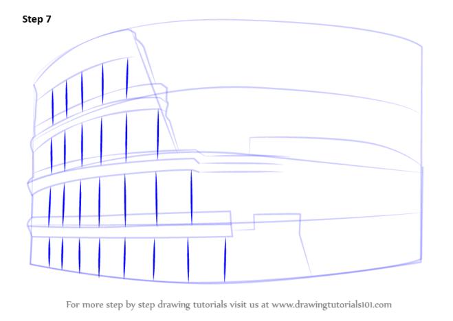 как нарисовать колизей6