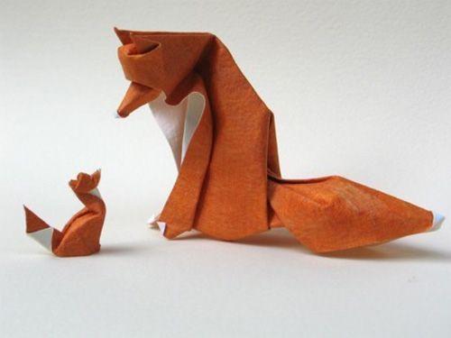 Как сделать лисичку оригами фото 847