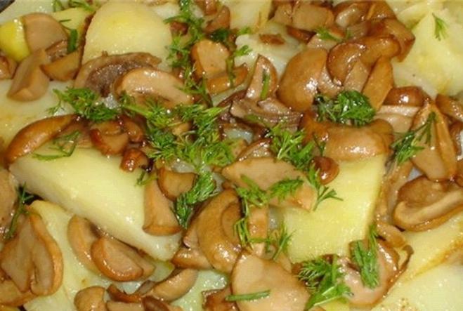 Как пожарить не вареные грибы с картошкой