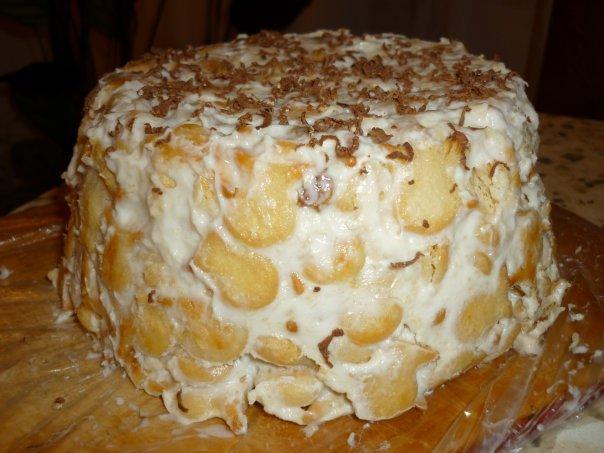 Торт из крекера со сметаной рецепт пошагово